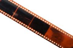 Striscia diritta della pellicola isolata Fotografia Stock
