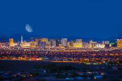 Striscia e luna di Las Vegas Fotografie Stock Libere da Diritti