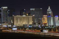 Striscia e traffico di Las Vegas Fotografia Stock Libera da Diritti