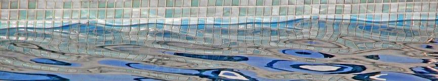Striscia panoramica della piscina Fotografia Stock