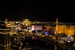 Striscia principale di Las Vegas, Nevada Fotografia Stock