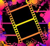 Striscia variopinta della pellicola in bianco Fotografia Stock Libera da Diritti