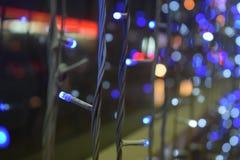 Striscia variopinta e blu di serie del LED Immagine Stock Libera da Diritti