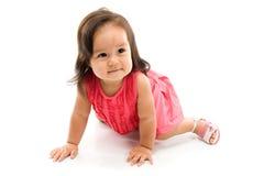 Strisciare del bambino Fotografie Stock
