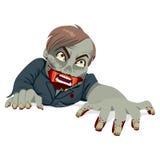 Strisciare dell'uomo dello zombie Immagini Stock