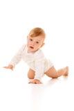 Strisciare sveglio della neonata Fotografie Stock Libere da Diritti