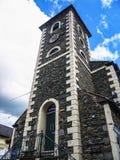Strittiger Turm in der Mitte von Keswick Cumbria lizenzfreie stockfotografie