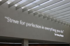 Strive for perfection in everything you do Royalty Free Stock Photos
