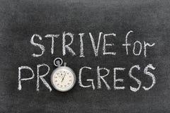 Strive for progress Stock Image