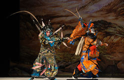 """Strive to catch up and overtake one another- Beijing Opera"""" Women Generals of Yang Family"""" Stock Image"""