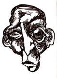 Strizzatina d'occhio del fronte della scimmia Immagini Stock