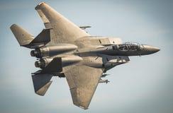 Strålflygplan för F15 Eagle Arkivbild