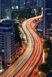 Ström av trafik, Shanghai Arkivfoton