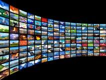 Strömen des Mediakonzeptes Lizenzfreies Stockbild