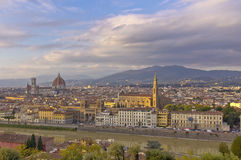 Strmy clouds over Florence Italy. Stock Image