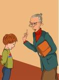 sträng lärare Arkivbild