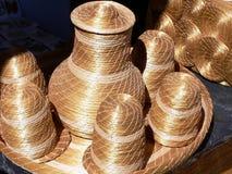 Stro handcrafts Stock Foto's