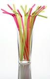 Stro voor een cocktail Royalty-vrije Stock Foto