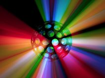 Strobe Ball Color Range Light 3d Illustration Horizontal Background Stock Photography