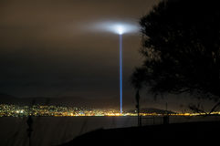 Strobe of light in Hobart, Tasmania Stock Photography