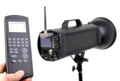 Strobe with remote control Stock Photo
