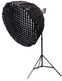 Strobe with umbrella isolated Royalty Free Stock Photos