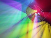 Strobefärgljus Fotografering för Bildbyråer