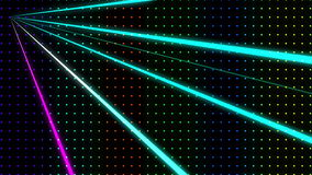Strobing Ascending Multicolored Dot Pattern Wall with Lasers Loop stock footage