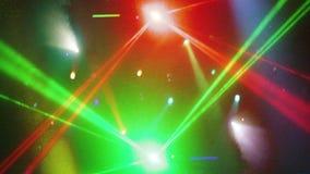 Strobing concerts laser lights stock footage