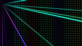 Strobing Multicolored Dot Pattern Wall with Lasers Loop stock video footage
