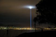 Stroboscoop van licht in Hobart, Tasmanige stock fotografie