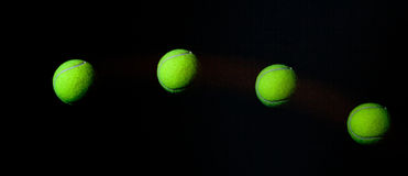 Stroboscope de bille de tennis. Image stock