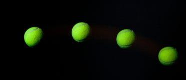 Stroboskop der Tenniskugel. Stockbild