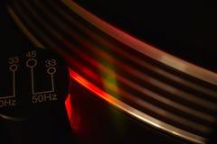 Stroboskopu światło turntable Zdjęcia Royalty Free