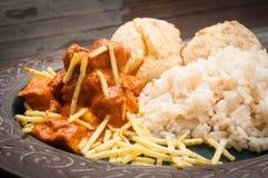 Stroganoff brésilien de poulet Image stock