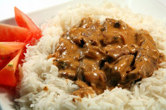 Stroganoff close-up Royalty Free Stock Photos