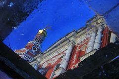Stroganoff Nativity εκκλησία σε Nizhny Novgorod, Ρωσία στοκ φωτογραφία με δικαίωμα ελεύθερης χρήσης