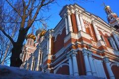 Stroganoff Nativity εκκλησία σε Nizhny Novgorod, Ρωσία στοκ εικόνα