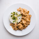 Stroganoff with rice Royalty Free Stock Image