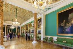 Stroganov宫殿内部在圣彼德堡,俄罗斯 库存图片