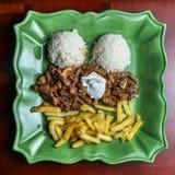 牛肉Stroganov/施特罗加诺夫法牛肉 免版税图库摄影