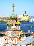 Stroganov Church and Cathedral Nevsky Royalty Free Stock Photos