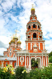 Stroganov Church in flowers Nizhny Novgorod Stock Image