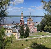 Stroganov church in Nizhny Novgorod Stock Image