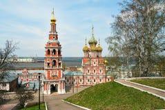 Stroganov Church in Nizhny Novgorod. Church of the Nativity of Our Lady. Russia Stock Images