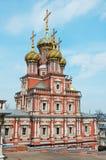 Stroganov Church in Nizhny Novgorod. Church of the Nativity of Our Lady. Russia Royalty Free Stock Image