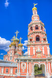 Stroganov Church  Nizhny Novgorod Russia. Landmark Stock Photo