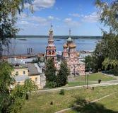 Stroganov kyrka i Nizhny Novgorod Fotografering för Bildbyråer