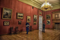 Stroganov Palace interiors. Palace was built to Rastrelli's designs in 1753-1754. Now - branch of the Russian Museum Royalty Free Stock Images