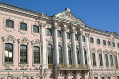 Stroganov Palace, view from Moika River Embankment. St. Petersbu Royalty Free Stock Photos